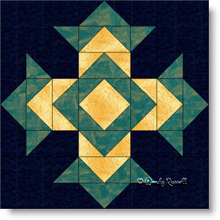 God's Eye quilt block image © Wendy Russell