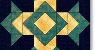 Patchwork Square Blog God S Eye Quilt Block