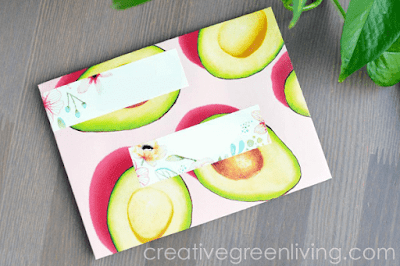 How to make an envelope from paper magazine pages