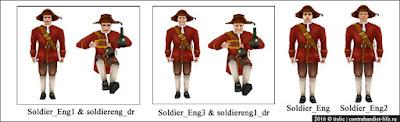 Английские солдаты
