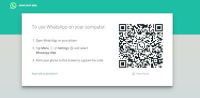 cara membuka pesan whatsapp di laptop