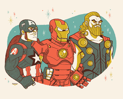 The Avengers Screen Print by Ian Glaubinger