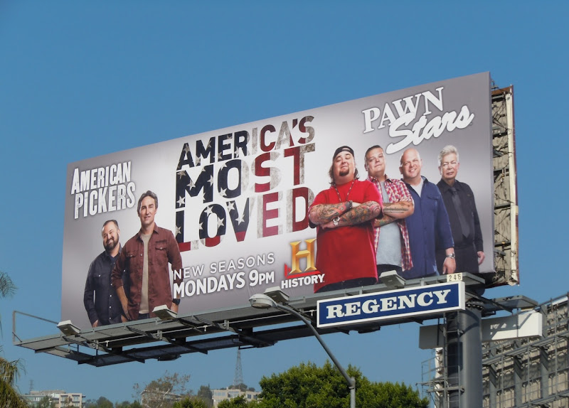 America's Most Loved History TV billboard