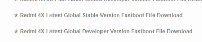 Download ROM Xiaomi Redmi 4X