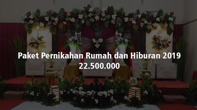 Paket pernikahan lengkap dengan hiburan untuk resepsi pernikahan di rumah Bekasi