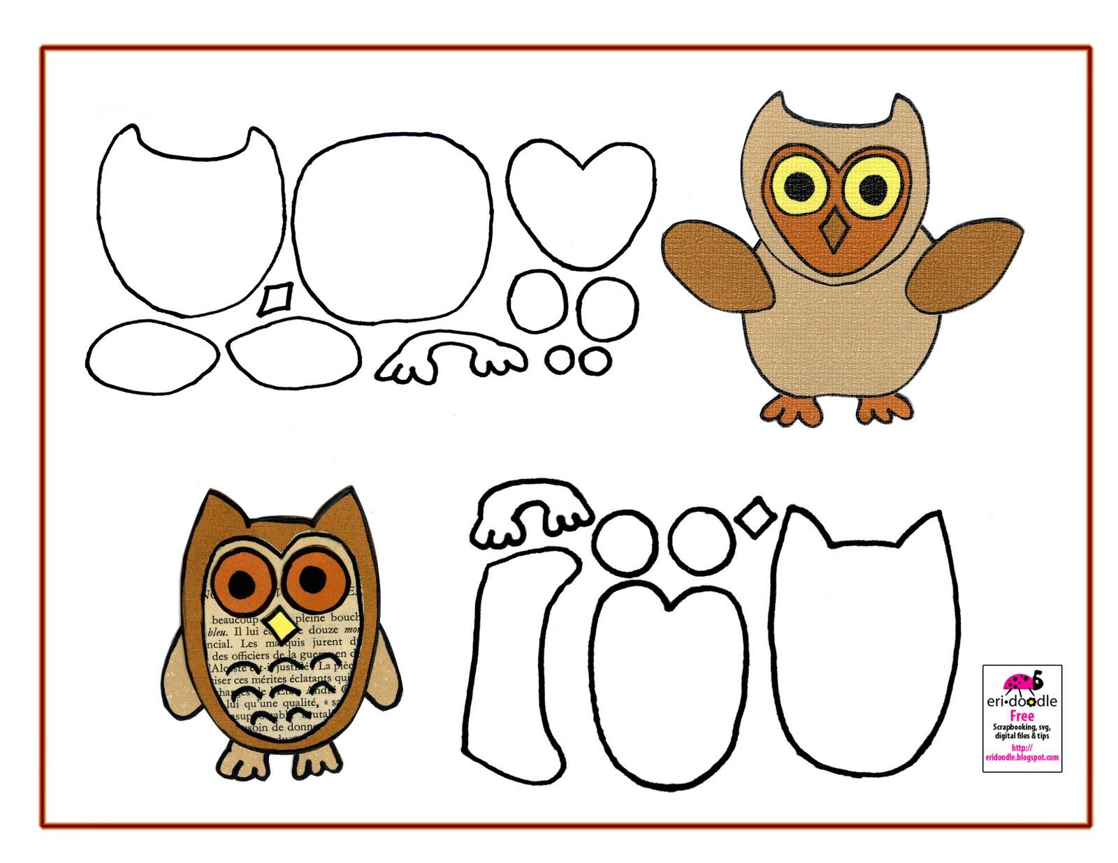 Paper Owl Template Gambar Animasi Lucu
