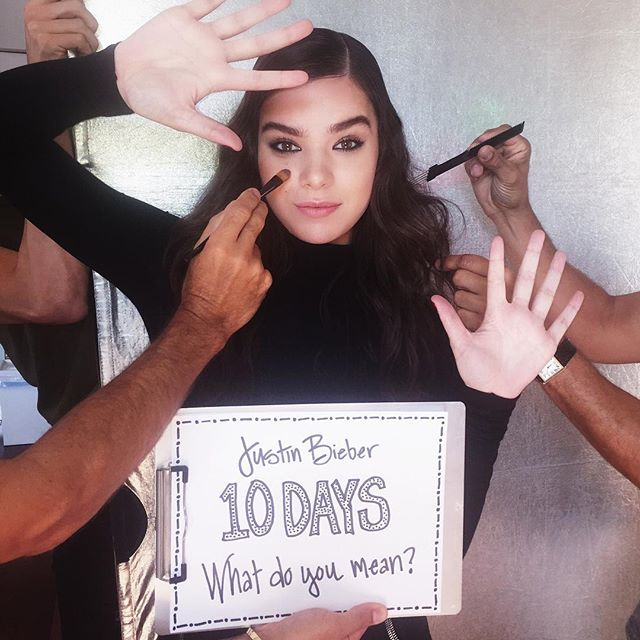 Justin Bieber Thanks haile esteinfeld . What Do You Mean? #10days