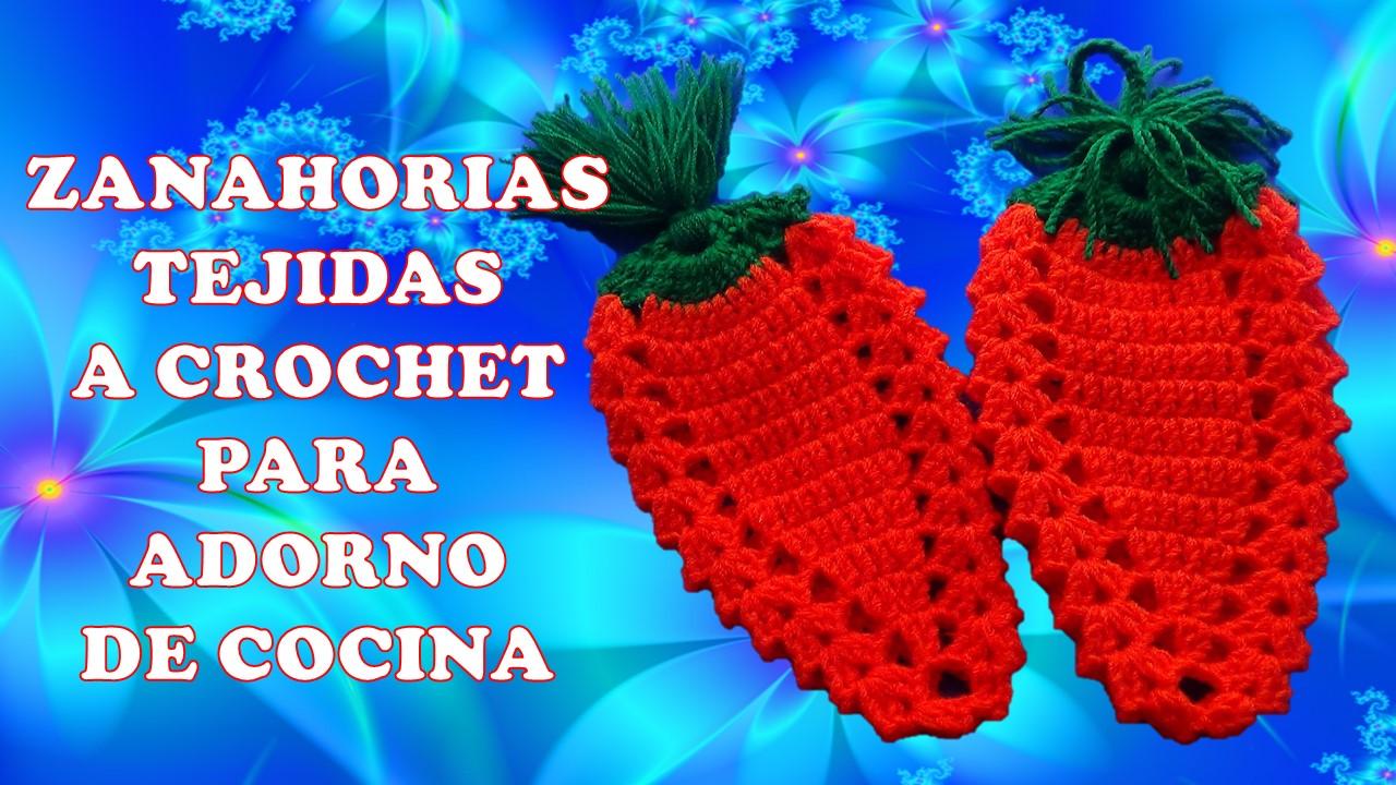 Milagros ena zanahorias carrots tejidas a crochet para for Youtube cocina para todos