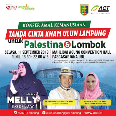 40 Media Massa Plus Blogger Dukung Penuh Konser Kemanusiaan Peduli Lombok dan Palestina