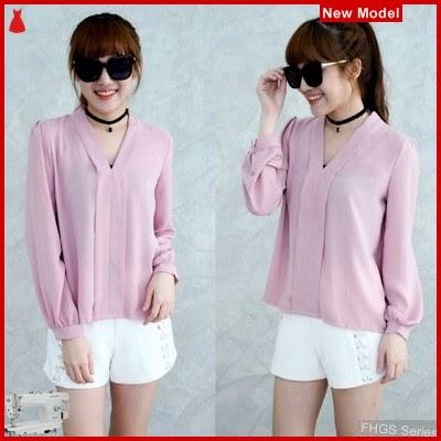 FHGS9077 Model Blouse Maurell D, Perempuan Pink Pakaian Atasan BMG
