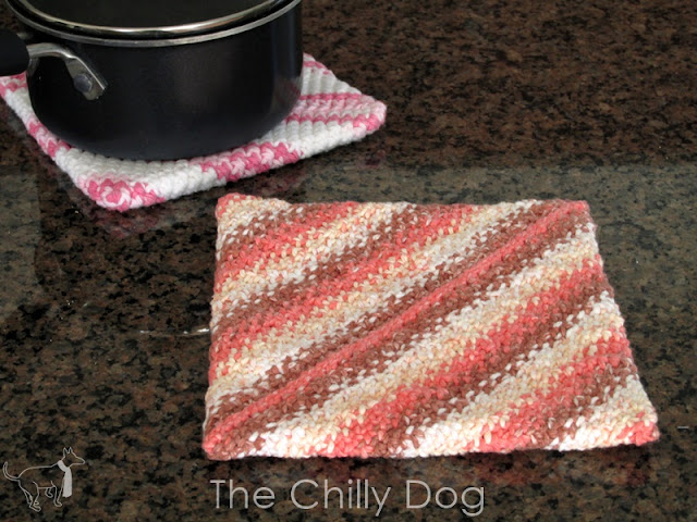One skein wonder - Grammy's favorite, easy to knit, potholders.