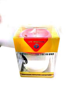 umidificatore milk 3 in 1 luce ventilatore fiffusore aroma on tenck