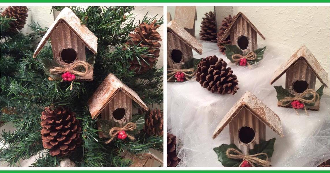 Realizando manualidades adorno navide o con rollos de - Manualidades con rollos de papel higienico para navidad ...