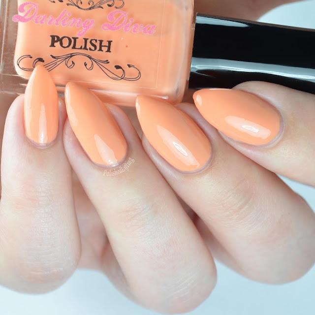 pastel orange nail polish