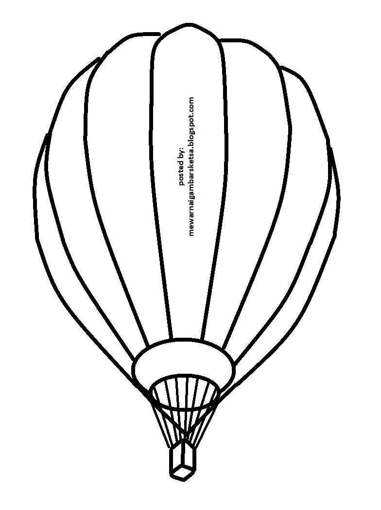 Mewarnai Gambar Sketsa Balon Udara