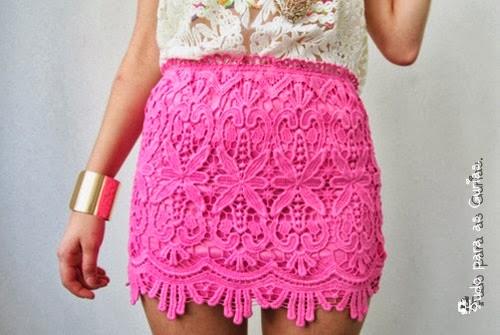 Especial: Outubro Rosa; saia rosa
