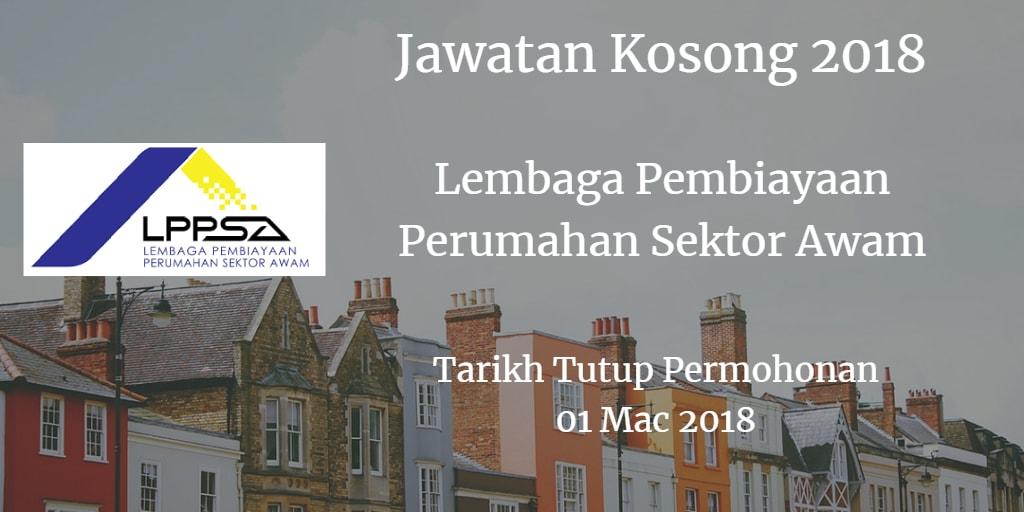Jawatan Kosong Lembaga Pembiayaan Perumahan Sektor Awam 01 Mac 2018