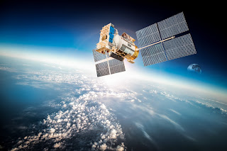 communications satellite in Earth orbit