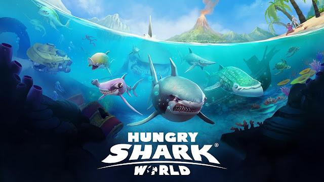 تحميل لعبة هنجري شارك القرش الجائع للاندرويد - تنزيل Hungry Shark World برابط مباشر