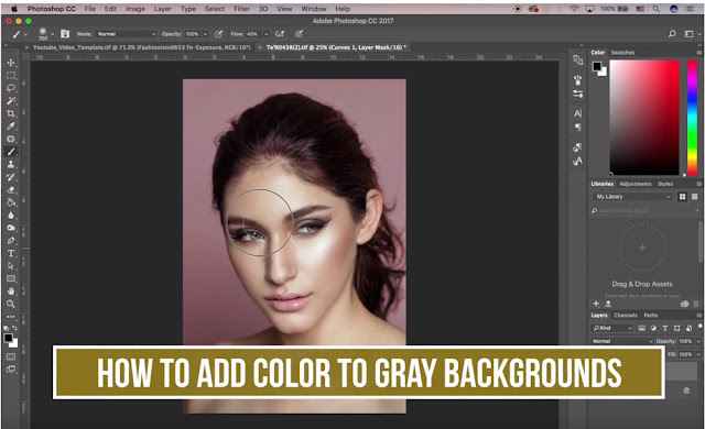 Add Color to Your Gray Background with Photoshop