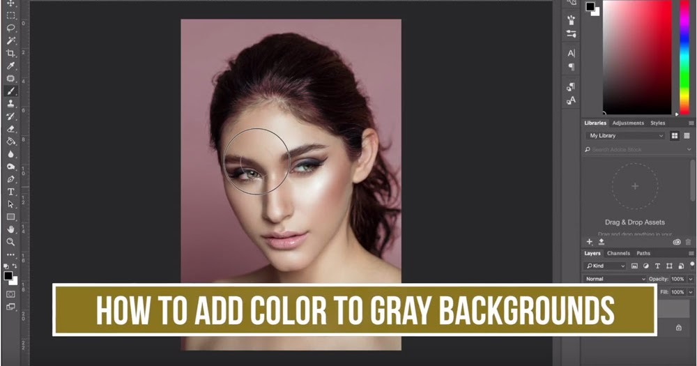 How To Add Color to Your Gray Background with Photoshop