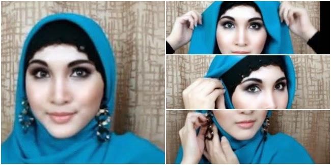 Majuwanita Com Tutorial Hijab Dengan Aksesoris Anting Tanpa Pamer Telinga