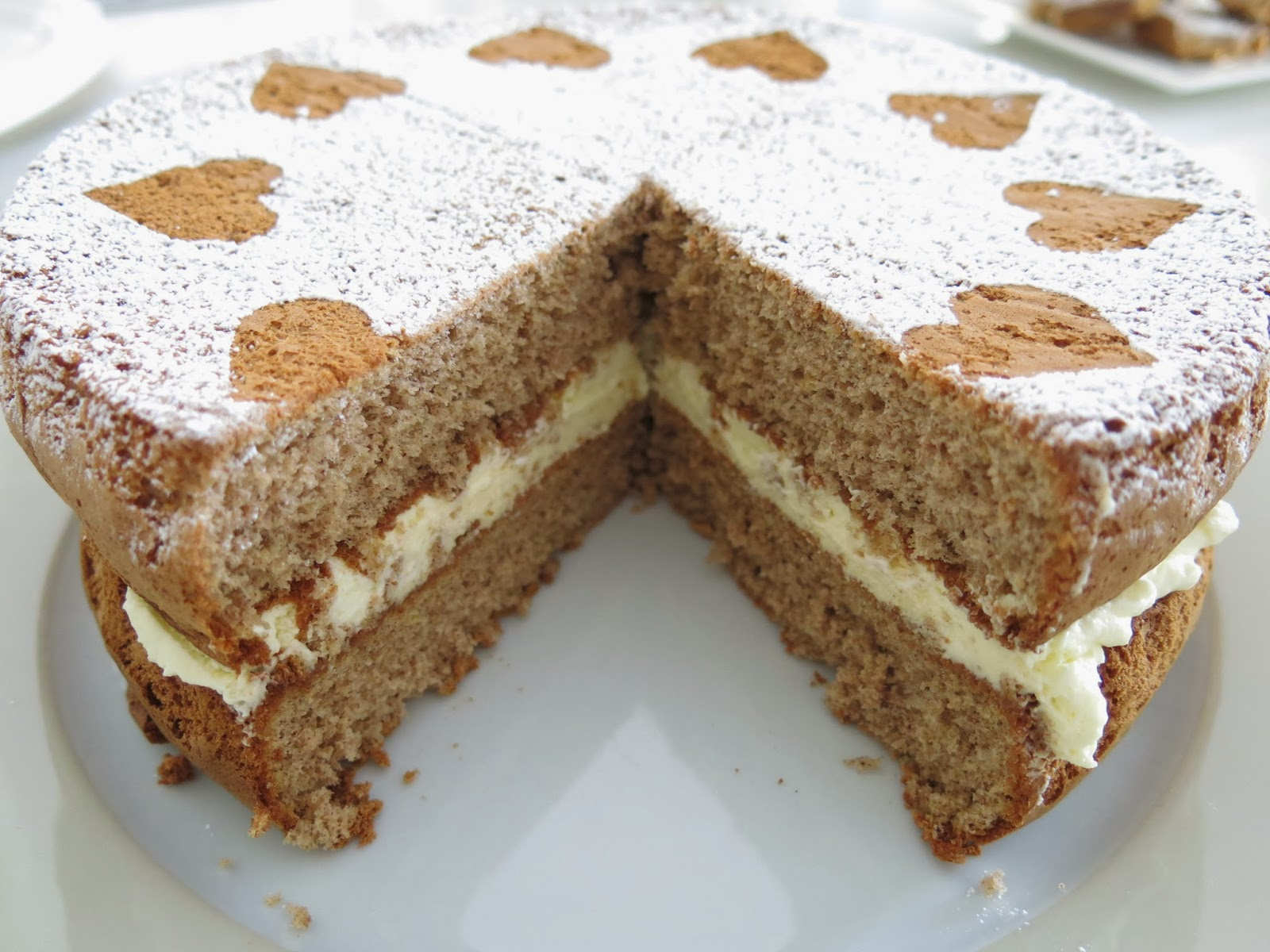 Ginger Sponge Birthday Cake