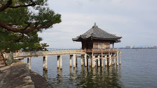Lake Biwa Bridge in Shiga