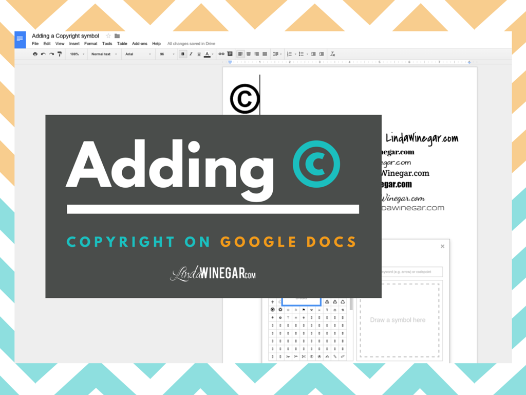 Add copyright symbol gallery symbol and sign ideas adding a copyright symbol on google docs linda winegar the copyright symbol why is it so buycottarizona Images