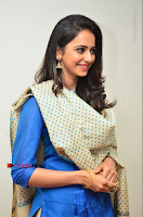 Actress Rakul Preet Singh Stills in Blue Salwar Kameez at Rarandi Veduka Chudam Press Meet  0118.JPG