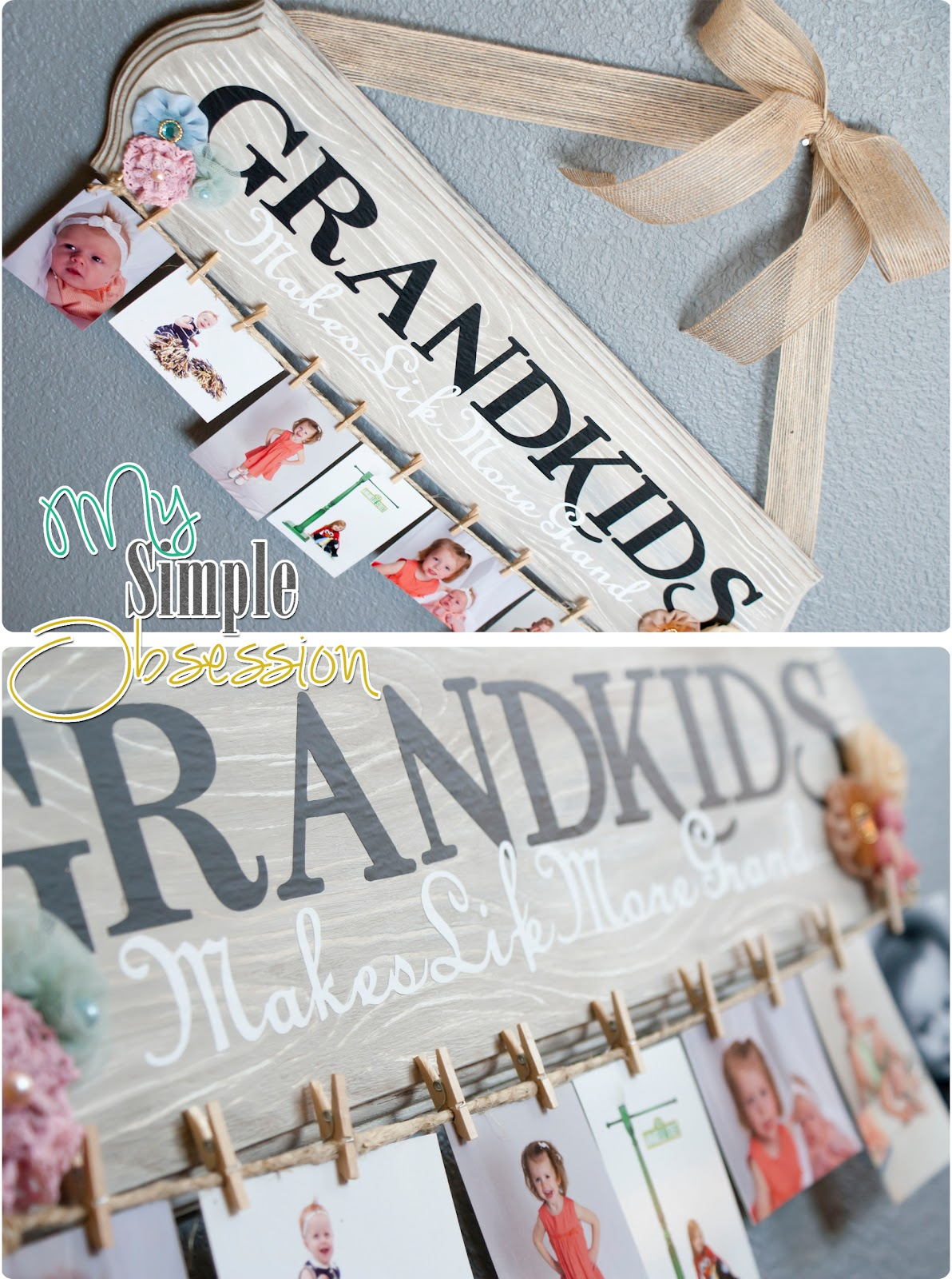 My Simple Obsession Family Spotlight Photo Display Tutorial