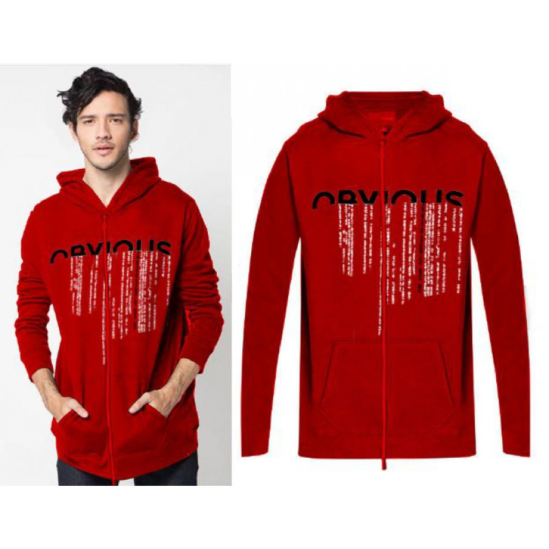 Jual Online Men Jacket Obvious Red Jakarta Bahan Babytery Terbaru