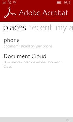Adobe Acrobat Start Page
