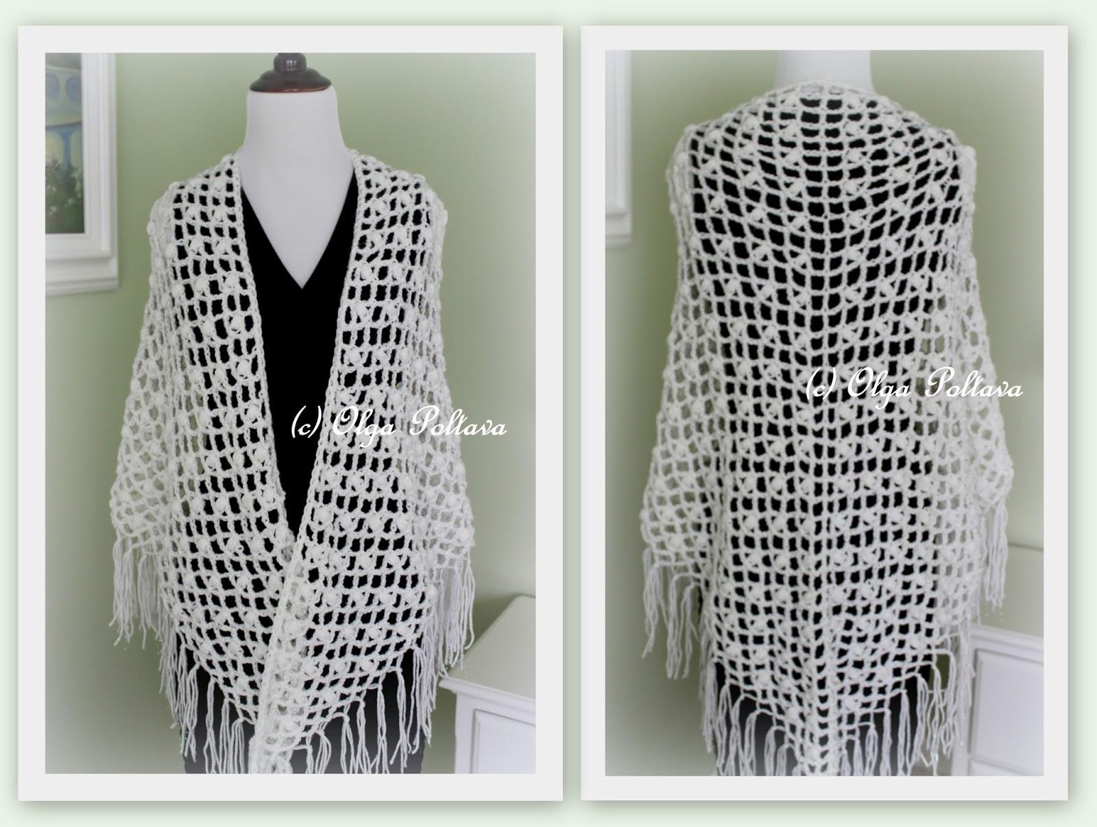Lacy Crochet: Lace Puffs Crochet Prayer Shawl