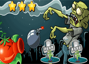 Red Peashooter vs Zombies