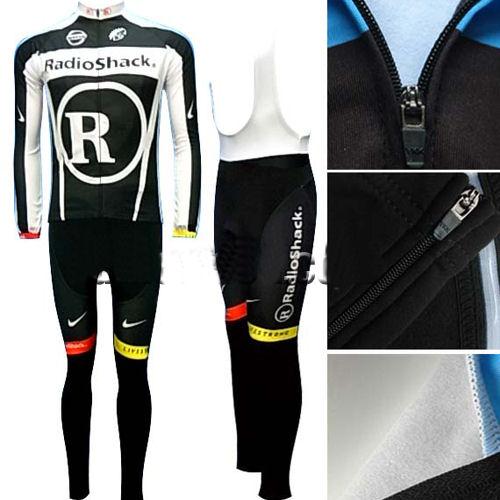 6e8b5e6ed 2011 RADIOSHACK BLACK WHITE WINTER THERMAL JERSEY + BIB PANTS KIT  1500  pesos