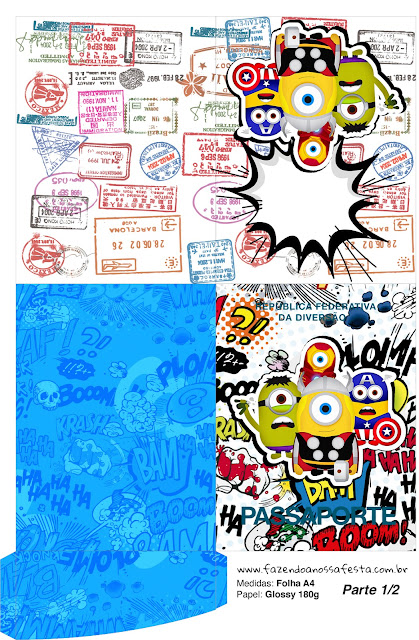 Imprimibles Gratis de Minions Super Héroes.