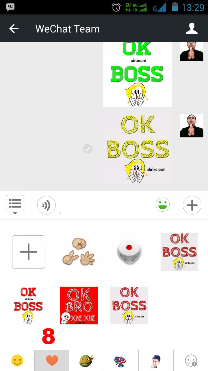 Contoh lokasi custom stiker pada ruang chat