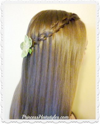 Waterfall twist braid variation. Micro woven waterfall twist.