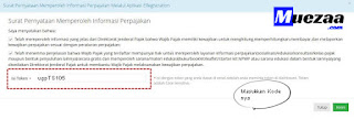 cara masukkan kode wilayah di npwp online