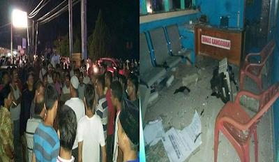 Kesal PLN Mati Terus, Ratusan Warga Mengamuk Di Kantor PLN Ujung Batu