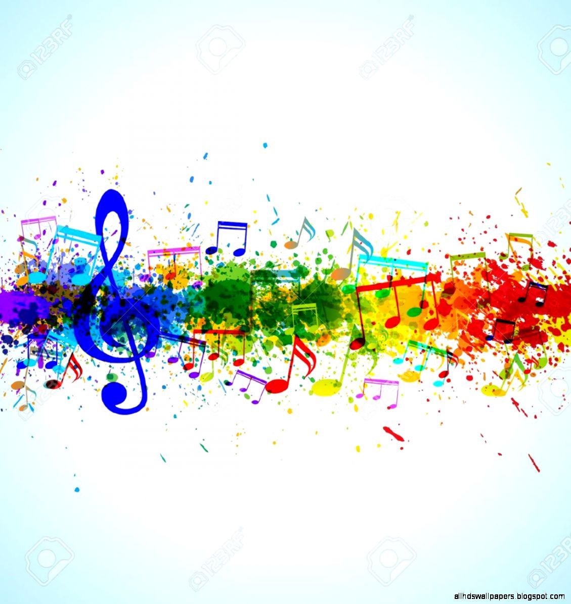 Full Color Music Background
