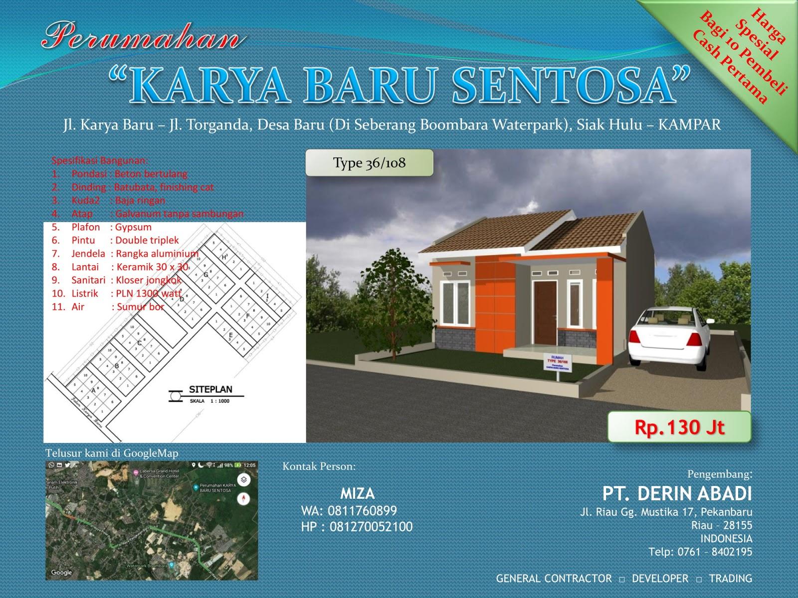 Brosur rumah minimalis type 36 di pekanbaru