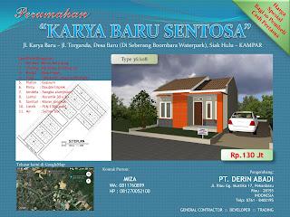 Brosur Rumah Minimalis Type 36 di kota Pekanbaru