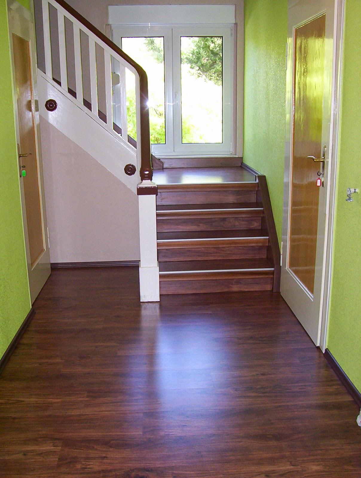 Treppenrenovierung - Podest vor dem Treppenantritt