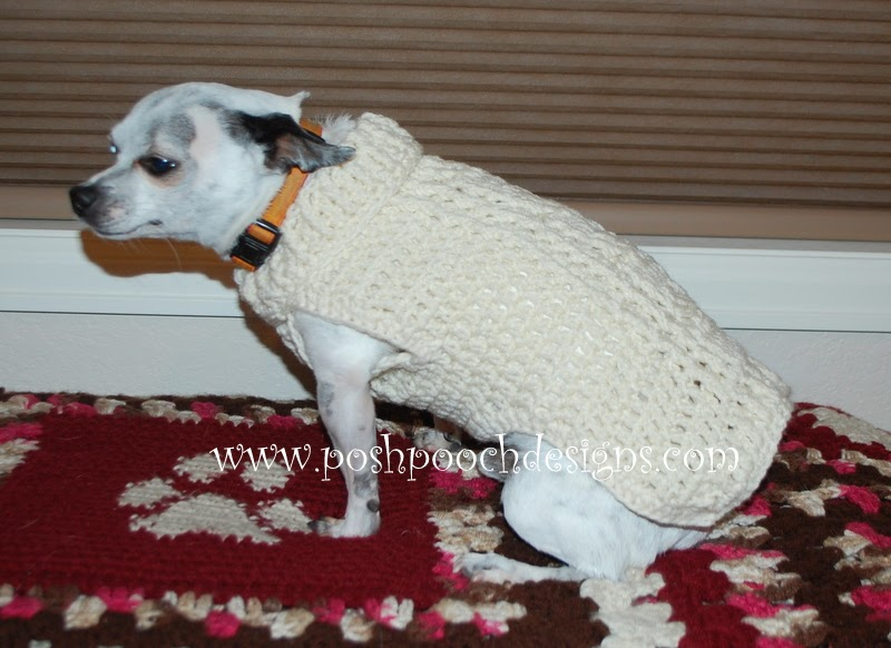 Posh Pooch Designs Dog Clothes: New Release - Cable Stitch Dog ...