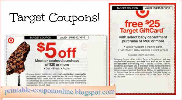 Target coupons policy 2018