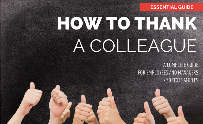 How to Thank a Colleague: A Complete Guide for Employees ...