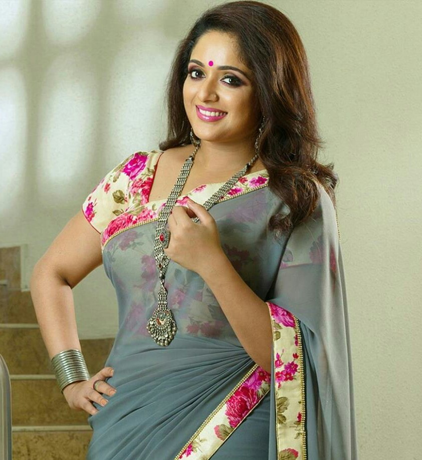 kavya madhavan hot saree pics