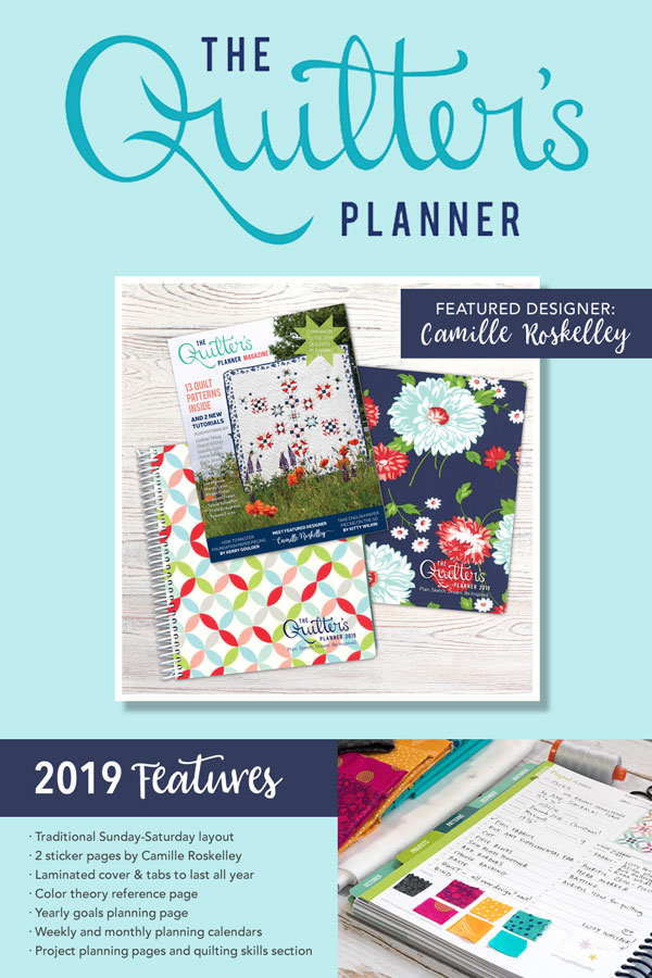 2019 Quilter's Planner Features